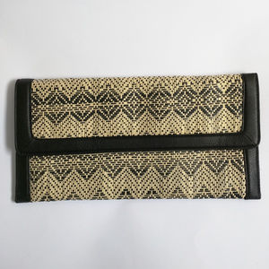 Banana Republic Paper & Pleather Woven Clutch